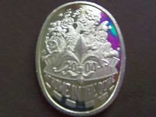2000 Endymion AT HOME IN THE DOME Fine Silver Oval HR Mardi Gras Doubloon