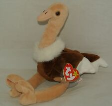 Ty Beanie Baby Stretch the Ostrich Retired - Usa Seller