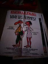 Affiche de Cinéma Film VIVE LES FEMMES , d'aprés Reiser
