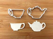 Tea pot set Plastic Biscuit Cookie Cutter Fondant Cake Decor