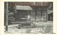 Columbia California Engine House + Papete RPPC Real photo postcard 10075