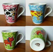 Tazza mug FIORUCCI ceramica, rotonda svasata, animale (cane, gatto, mucca) cm 10