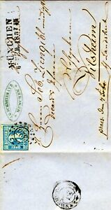 3 Kreuzer blau, Bayern, Mi 2 auf Brief, Sammler, Breifmarken, historischer Brief