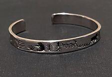 Vidal Aragon Sterling Silver 14k plus Gold Cuff Bracelet 5.75 plus leaflet