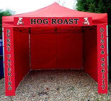 Gazebo Catering Trailer Hog Roast ANY DESIGN PRINTED  aluminium HEXAGON 40MM LEG