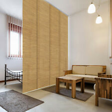GoDear Natural Woven Room Partition Room Divider Adjustable Sliding Panels