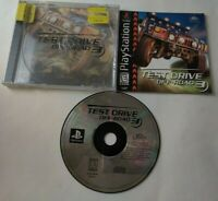 PlayStation 1 PS1 Test Drive Off-Road 3 Black Label Racing Video Game w/ Manual