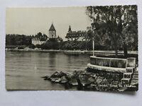 Ouchy Switzerland Vintage B&W Postcard 1956 Hotel du Chateau
