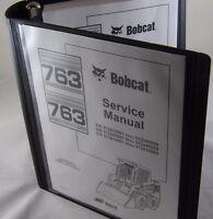 Bobcat 763 763H Service Manual Book Skid steer 6900091 repair shop book