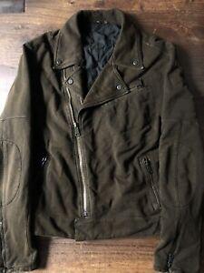 Ralph Lauren Black Label Motorcycle Jacket Brown Beautiful Vintage MSRP $595