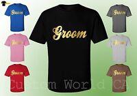 Groom Wedding Men T-Shirt -  Groom Men T-Shirt Gold Color Men Shirt Groom Design