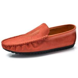 Mens Faux Leather Pumps Slip on Loafers Shoes Driving Moccasins Flats Walking