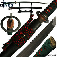 Handforged Damascus Folded Steel Blade Full Tang Japanese Samurai Katana Sword