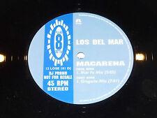 """LOS DEL MAR - MACARENA - DJ PROMO 2-track 12"""" Single"""