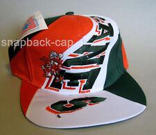 N.O.S Vintage Snapback Cap Miami Canes old school 90's