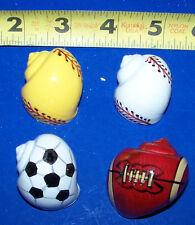 4 Hermit Crab Shells Painted Sports Balls Crafts Fish Tank Display Decor