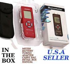 New Stgist Digital Manometer Differential Air Pressure Meter + 11 Unit U.S.A.