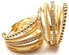 New Authentic Carrera Y Carrera Melodia 18k Yellow Gold 5Strand Diamond Earrings