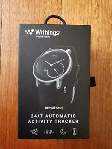 Withings Nokia Activite Steel Hybrid Smartwatch watch black white Skeep tracking