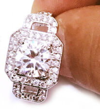 5.14ct D-h=Color vvs1 White Engagement 925 Sterling Silver Men's Ring size 9