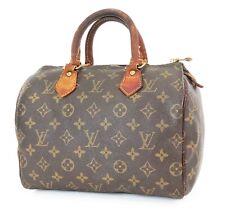 Authentic LOUIS VUITTON Speedy 25 Monogram Boston Handbag Purse #37153