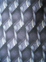 Hill & Archer Tie Black Grey Patterned Woven Print Mens Necktie