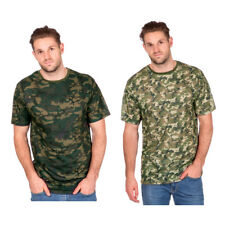 Mens Camo T-shirt Camouflage Military Army Combat Tee Short Sleeve Comfy Summer