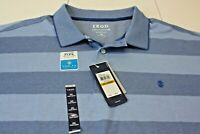 IZOD Mens Big Tall Advantage Performance Stretch Blue Polo Shirt  Sz 4XL NWT
