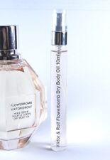 Viktor & Rolf Flowerbomb Dry Body Oil 10ml Glass Spray 0.33oz Travel SAMPLE RARE