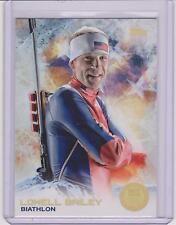 SUPER RARE 2014 TOPPS OLYMPIC LOWELL BAILEY GOLD RAINBOW CARD #5 ~ BIATHLON