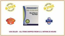 50 PRODIGY NO CODING BLOOD GLUCOSE TEST STRIPS EXP:08/2019 NEW + FREE S&H