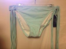 Vince Camuto Fringe Bikini Bottom L Ocean Breeze New w/Tags