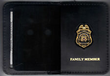 Federal Reserve Police Officer Family Member Wallet w/Antique 1-inch Mini Badge