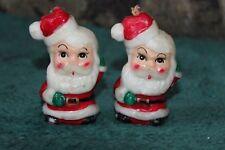 "Vintage Hard Wax Christmas Santa Candle/ Ornament 3"""