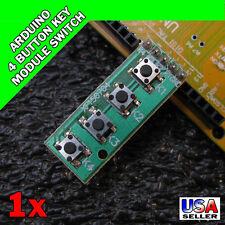 vArduino 4 Button Key Module Keypad Switch Keyboard UNO MEGA2560 Breadboard S14