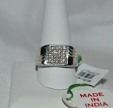 PRICELESS 1.00 GENUINE SWAROVSKI ZIRCONIA   MEN`S RING