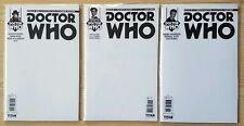 Doctor Who Blank Sketch Variant Cover Lot Of 3 4th 11th 12th Doctors Titan Comic
