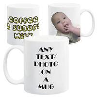 Your Personalised Custom Image/Photo/Text On A Ceramic 11oz Mug, With Gift Box