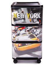 Tour Visio New York Schubladentower Rollwagen Schubladenbox 3 Schubladen