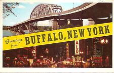 Greetings from Buffalo, New York Ny Chrome Postcard