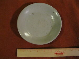 Vintage Antique Silla Dynasty Korean Glazed Stoneware Saucer  1  *Appraisal