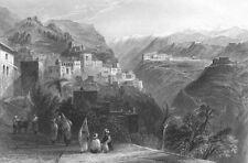 Lebanon, BEIT ED-DINE DEIR AL_QAMAR BEITEDDINE PALACE ~ 1836 Art Print Engraving