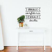 INHALE LOVE EXHALE HATE vinyl wall art QUOTE yoga love karma family