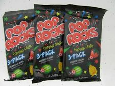 Pop Rocks Pineapple Melon Strawberry ~ American Popping Candy ~ Lot of 3