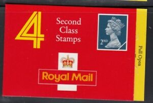 GREAT BRITAIN Four 2nd Class Imperf. T B R MNH booklet