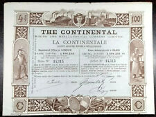 THE CONTINENTAL LONDON / PARIS LA CONTINENTAL - 1890 - 1 ACTION / bond