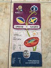 TICKET MATCH 8 EURO 2012 KYIV UKRAINE - SWEDEN