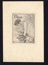 09)Nr.129- EXLIBRIS- Armand Rassenfosse ( 1862 - 1934 ) für Marie Rassenfosse
