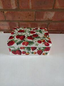 Emma Bridgewater Metal Deep Rectangular Storage Tin Strawberry Strawberries New