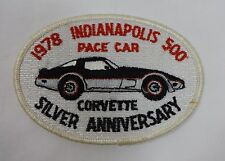 1978 Indianapolis 500 Chevrolet Corvette Silver Anniver Pace Car Collector Patch